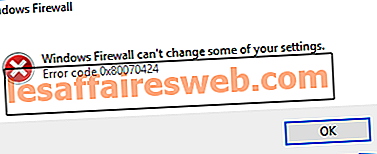 Windowsファイアウォールが一部の設定エラー0x80070424を変更できないのを修正する