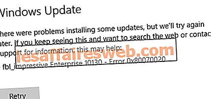 Betulkan ralat kemas kini Windows 0x80070020