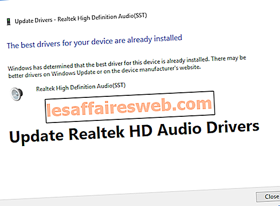 Come aggiornare i driver audio Realtek HD in Windows 10