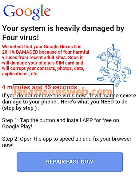 Correggi il tuo sistema è gravemente danneggiato da Four Virus