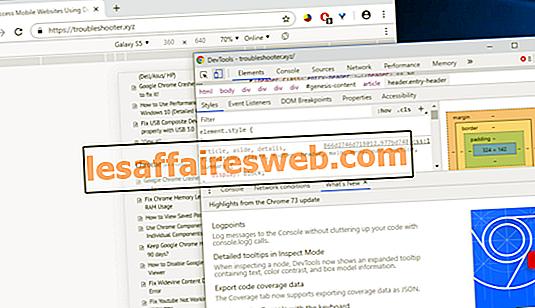 데스크탑 브라우저 (PC)를 사용하여 모바일 웹 사이트에 액세스