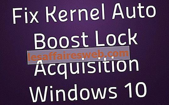 Betulkan Kernel Auto Boost Lock Acquisition Windows 10