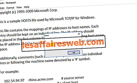 Betulkan Akses ditolak semasa menyunting fail hos di Windows 10