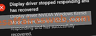 Il driver della modalità kernel di Nvidia ha smesso di rispondere