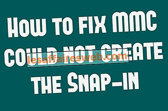 Hur man fixar MMC kunde inte skapa snap-in