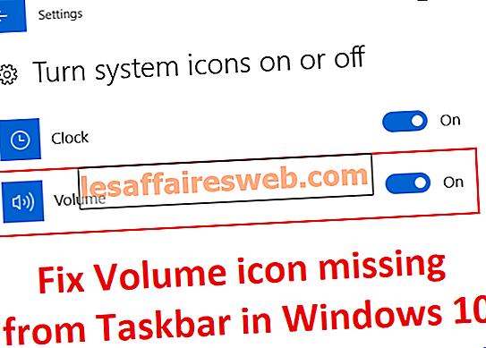 Fix Volume-Symbol fehlt in der Taskleiste in Windows 10