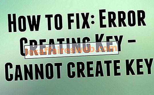 Perbaiki Tidak Dapat membuat kesalahan penulisan kunci ke registri