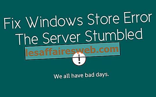 서버가 우연히 발견 된 Windows Store 오류 수정