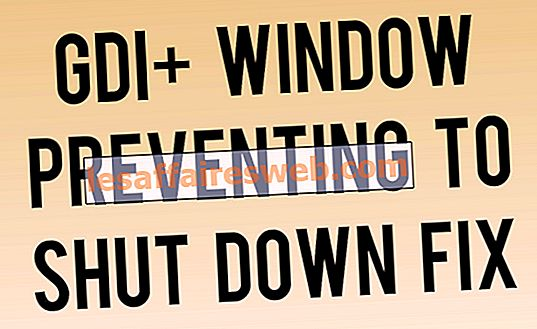 GDI + Window mencegah untuk mematikan perbaikan