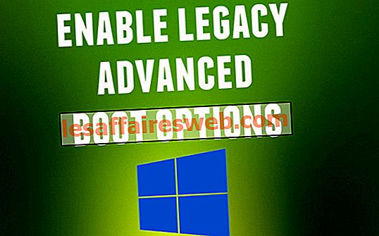 Bagaimana untuk membolehkan pilihan boot canggih warisan dalam Windows 10