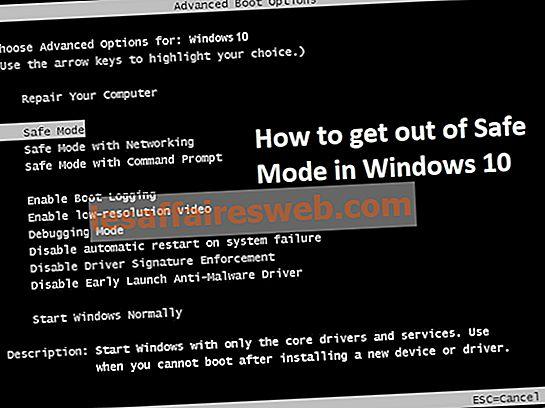 2 façons de quitter le mode sans échec dans Windows 10