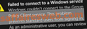 Risolto il problema con cui Windows non poteva connettersi al servizio Client di criteri di gruppo
