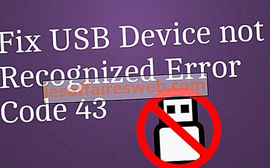 Betulkan Peranti USB tidak Kod Ralat yang Diiktiraf 43