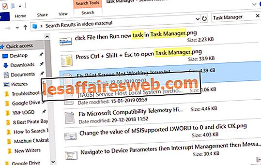 Comment rechercher du texte ou le contenu de n'importe quel fichier sous Windows 10