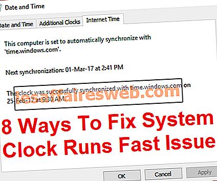 8 modi per risolvere l'orologio di sistema funziona velocemente