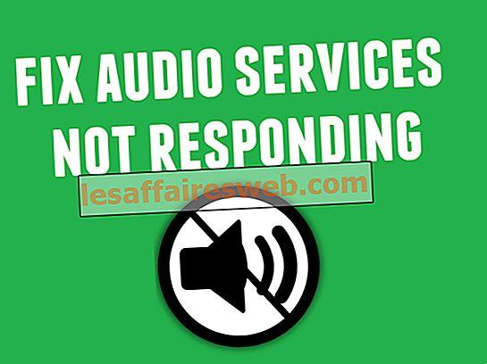 Windows 10에서 오디오 서비스가 응답하지 않는 문제를 해결하는 방법