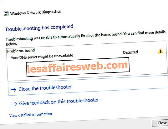 Perbaiki Server DNS Anda mungkin kesalahan tidak tersedia