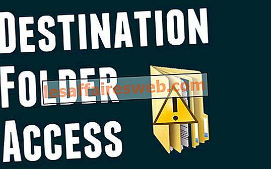Comment réparer l'erreur de refus d'accès au dossier de destination