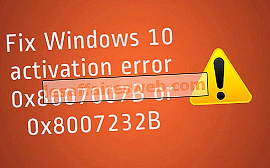 Correction de l'erreur d'activation de Windows 10 0x8007007B ou 0x8007232B