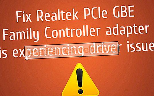 Fixer l'adaptateur Realtek PCIe GBE Family Controller rencontre un problème de pilote