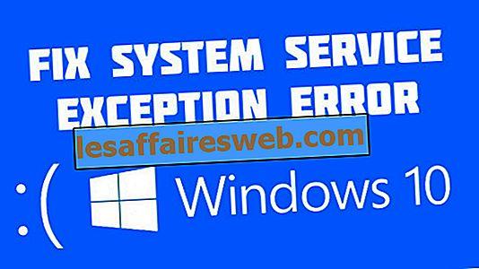 Windows 10のシステムサービス例外エラー