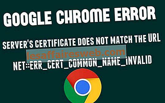 Sertifikat server Google chrome tidak cocok dengan perbaikan URL
