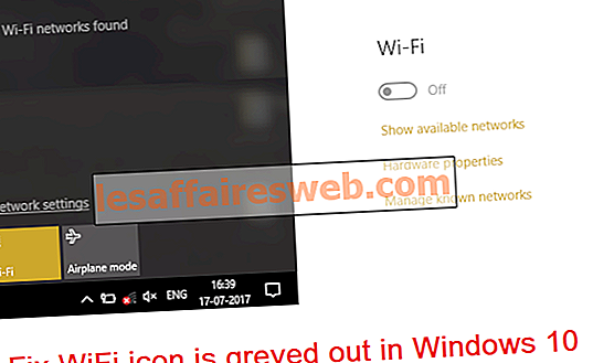 L'icona Fix WiFi è disattivata in Windows 10