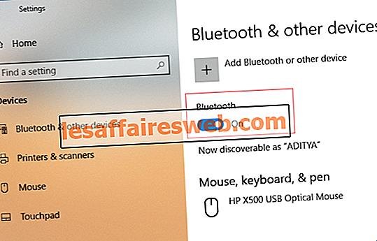 Réparer Bluetooth ne peut pas s'éteindre sur Windows 10