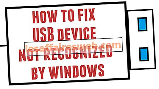 Correzione del dispositivo USB non riconosciuto da Windows 10