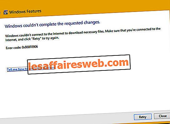 Risolto Windows non è riuscito a completare le modifiche richieste