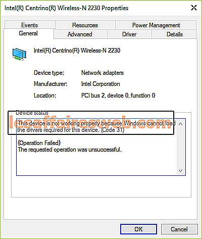 Исправьте код ошибки сетевого адаптера 31 в диспетчере устройств