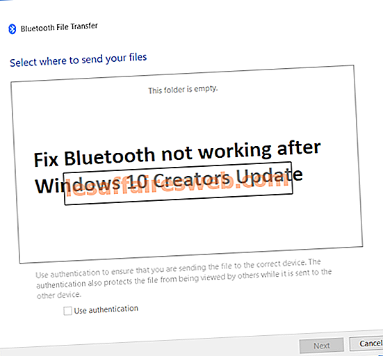 Fix Bluetooth fungerar inte efter Windows 10 Creators Update