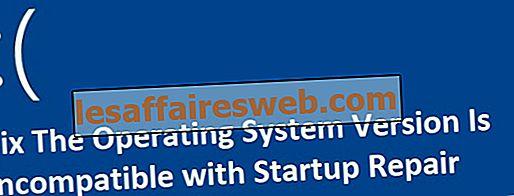 Versi Sistem Operasi Tidak Kompatibel dengan Perbaikan Startup