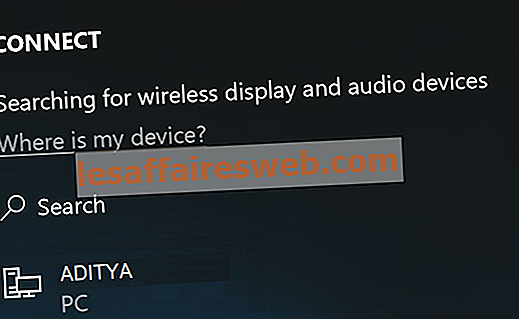 Подключение к беспроводному дисплею с помощью Miracast в Windows 10