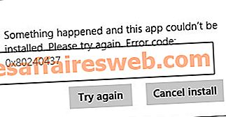 Windows Store 오류 코드 0x80240437 수정