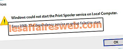 Fix Windows konnte den Print Spooler-Dienst auf dem lokalen Computer nicht starten