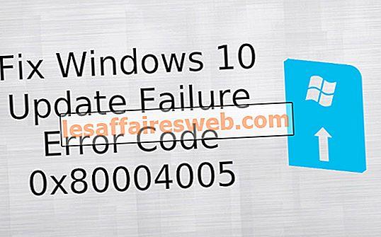 Correggi il codice di errore di errore di aggiornamento di Windows 10 0x80004005