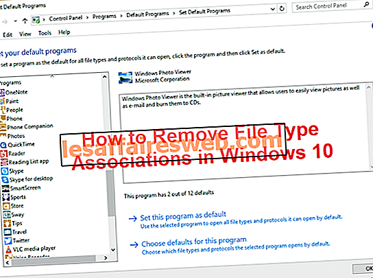 So entfernen Sie Dateitypzuordnungen in Windows 10
