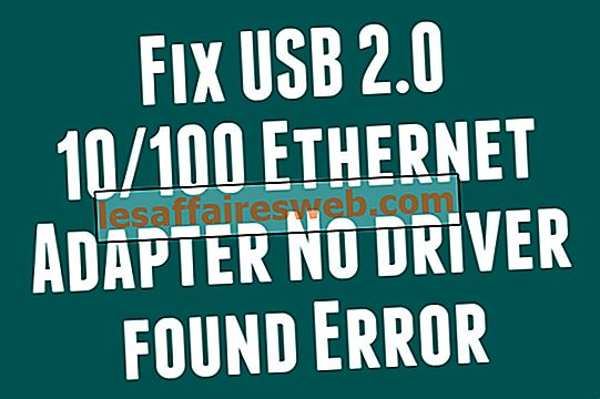 Cara memperbaiki Adaptor Ethernet USB 2.0 10/100 Tidak ditemukan driver