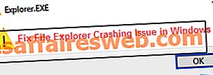 Fix File Explorer Crashing-problem i Windows 10