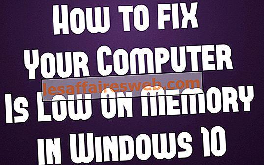 Fixa din dator har lågt minne varning