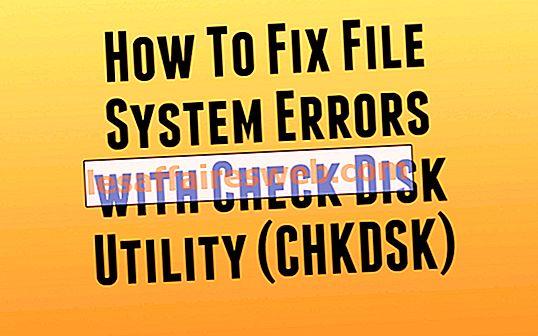 Correggi gli errori del file system con Check Disk Utility (CHKDSK)