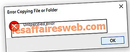Perbaiki kesalahan yang tidak ditentukan saat menyalin file atau folder di Windows 10
