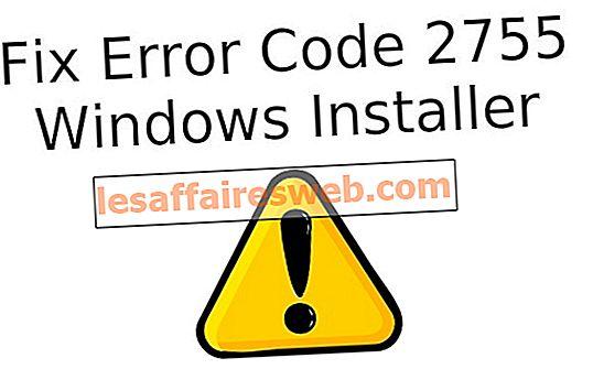 Fixa felkod 2755 Windows Installer
