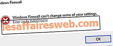 Windows 방화벽에서 일부 설정을 변경할 수없는 문제 수정 0x80070424