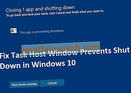 Betulkan Task Host Window Mengesan Shut Down di Windows 10