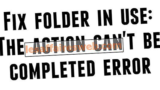 Correggi cartella in uso, impossibile completare l'azione