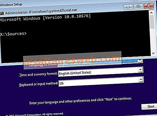 Comment ouvrir l'invite de commandes au démarrage dans Windows 10