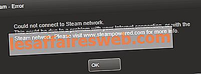 수정이 Steam 네트워크 오류에 연결하지 못했습니다