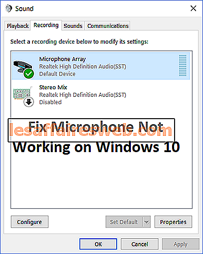 Correction du microphone ne fonctionnant pas sur Windows 10